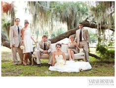 vanity fair  bridal party photo with beachview tent rentals