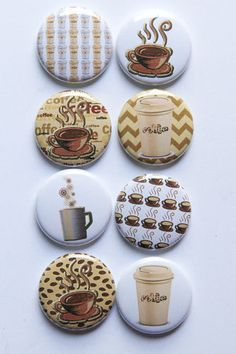 Cup of Coffee Flair by kidsmom1999 on Etsy, $6.00