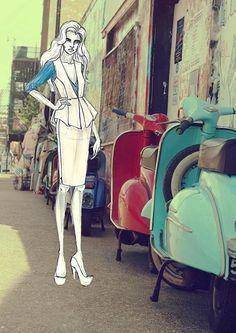italian street sketch 5