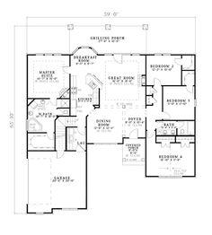 European House Plan 82243 Level One
