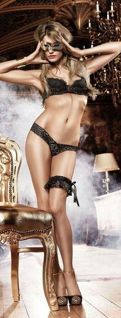 Sexy stranger Girl on sexy Black Lingerie