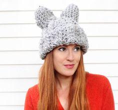 Cat Ear Hat [knitting pattern]