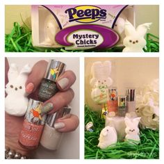Mani-Monday: A birds of a feather white Peeps Easter manicure