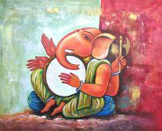 ganesha, lord ganesha, ganapati, ganapati with musical instrument, dhol, music
