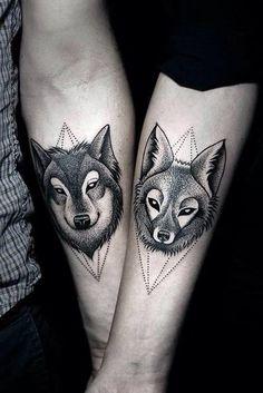 Forearm Wolf Tattoo - 55 Wolf Tattoo Designs  <3 <3