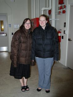 CHL interns about to enter the cold storage rooms in the basement of the archival storage facility. Newspapers and film negatives are among the items preserved in the subzero temperatures.
