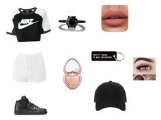 """Untitled #12"" by siena-cipriani on Polyvore featuring Topshop, NIKE, Too Faced Cosmetics, rag & bone and Various Projects"