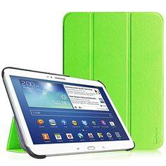 Fintie Samsung Galaxy Tab 3 10.1 H�lle Case - Ultra Slim Lightweight superleicht St�nder Smart Shell Cover Schutzh�lle Tasche Etui mit Auto Sleep Wake up f�r Samsung Galaxy Tab 3 (10,1 Zoll) P5200 / P5210, Gr�n