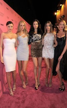 Miranda Kerr, Erin Heatherton, Adriana Lima, Alessandra Ambrosio, and Candice Swanepoel.