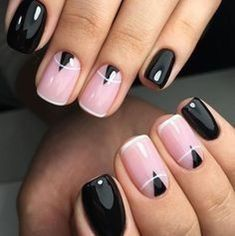 Nice 44 Cool Black Nail Ideas For Women. More at https://wear4trend.com/2018/04/11/44-cool-black-nail-ideas-for-women/