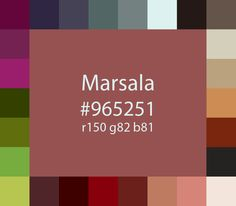 Pantone colour of the year 2015: Marsala PLUS Pantone's suggested colour palette.