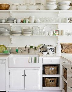 Color Outside the Lines: Kitchen Inspiration Month: Day Thirteen - Shelf Stying