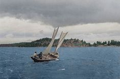 A traditional fishing boat in the Finnish archipelago in 1932 Early Humans, Russian Revolution, Colorized Photos, Human Settlement, Archipelago, Classic Movies, World War Two, Fishing Boats, Finland