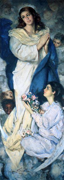 José Cruz Herrera (1890 – 1972, Spanish).Immaculada Concepcion