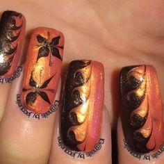 Dark brown and Orange Drymarble Mix Love how these @kozmiccolours look together  #nails #nailsdid #nailswag #nailsofinstagram #nailsaddict #nailart #naildesign #nailpolish #notd  #naillove #ignails #featuremynails #nailsdaily #nailitdaily #thenailsheaven  #nailstyleofficial @nailstyleofficial #scra2ch  #nails_by_jacqueline_  #simplynotlogical  #therealnailaddicts #fbnailaddicts by nails_by_jacqueline_
