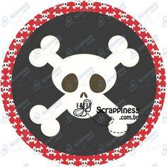 Arte Digital - Piratas Redonda #2 | Festas Personalizadas | Lembrancinhas | Scrap Festa | Scrappiness Designs
