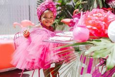 First Flamingo Themed Birthday Party - Inspired By This