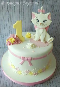 cat birthday cake for cats party ideas - cat birthday cake for cats ; cat birthday cake for cats party ideas ; cat cake for cats birthday parties Birthday Cakes Girls Kids, Birthday Cake For Cat, Birthday Cupcakes, Birthday Cake Disney, Kitten Cake, Decors Pate A Sucre, Diy Cake, Girl Cakes, Cupcake Cakes