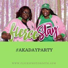 #aka #pinkandgreen #fierce #slay #akadayparty #photobooth #pinkbackdrop #glitter #sparkle #ctevents #eventplanner #alwaysfun #havingfun #glam Pink Backdrop, Slay, Photo Booth, Pink And Green, Sparkle, Glitter, Party, Instagram, Receptions