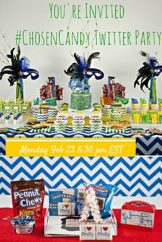 Join us for conversation and giveaways all about party planning - dessert tables, gift baskets #chosencandy RSVP now
