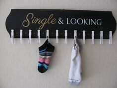 "Large Sock Holder - Lost Sock Board.  I so need this for my home, too many ""divorced"" socks!!"