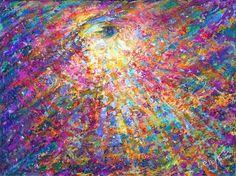 "Connect to Higher Self via ""Eye of Universe"" metaphysical art print by Artist Elena Khomoutova"