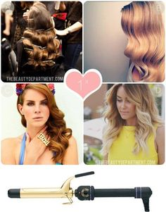 This shows how different sizes of curling iron create different hairstyles. Really useful if you have more than one iron or if you have to decide which size to buy.