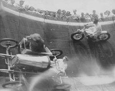 Lion, sidecar, velodrome