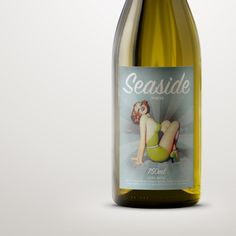 Rosemount white. Love the pin-up look on this #wine #packaging PD