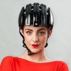 Carrera Foldable Cycling Helmet Gloss Black | Cyclechic | Cyclechic
