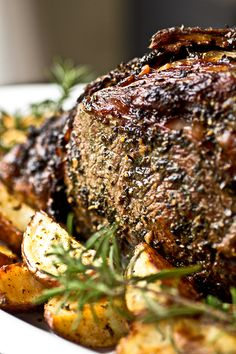 Coffee-Crusted Prime Rib recipe, Steak Recipes