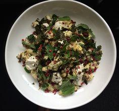 Cauliflower and sumac salad with kale crisps