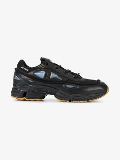 new arrival bd784 54a9f Adidas By Raf Simons Core black ozweego 2 leather sneakers Black Leather  Sneakers, Leather Men