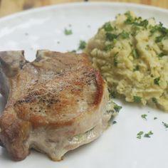 Creamy Spinach-Stuffed Pork Chops