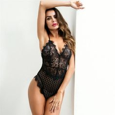 Sexy Lace Bodysuit Women Bodycon Jumpsuit Summer Cut Out Rompers Club Womens Jumpsuit Body Top Overalls Feminino Playsui Lingerie Outfits, Satin Lingerie, Bodysuit Lingerie, Pretty Lingerie, Lace Bodysuit, Women Lingerie, Lingerie Sets, Bodycon Jumpsuit, Body Suit Outfits