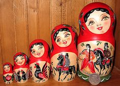 Russian Hand Painted Matt Nesting Doll Poupee Russe 5 Gorodetskaya Stile Zenina | eBay