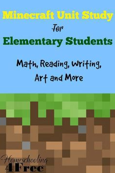 Laugh and Learn Linkup for Parents, Homeschooling, & DIY Laugh & Learn Linkup: Minecraft Unit Study Minecraft Classroom, Minecraft Activities, Minecraft School, Minecraft Party, Autism Classroom, Fun Learning, Learning Activities, Mobile Learning, Educational Activities