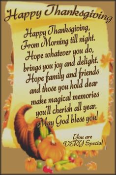 Blessings For Happy Thanksgiving