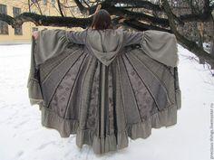 """Купить Лоскутное пальто """"Лесная фея"""" - коричневый, бохо, бохо стиль, лоскутное пальто, пэчворк"""