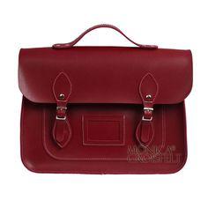 Bolsa Croisfelt Satchel Carteiro Pasta Feminina Vermelha Burgundy Marsala Vinho, 13'' Unissex Sem Gênero #mensageiro #classica #moda