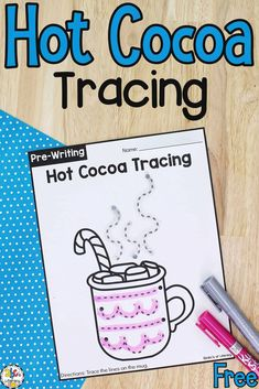 These Hot Cocoa Tracing Worksheets are a fun way for pre-writers to work on writing strokes, pencil grip, and fine motor skills.
