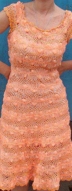 vestido crochet de grampo
