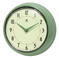 Retro Wall Clock in Green bu Citrus Kitchen.  would look nice in new kitchen?