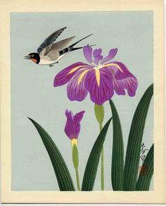 Ōno Bakufū, Bird and Flower