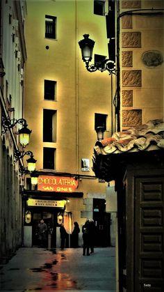 Chocolatería San Ginés en Madrid