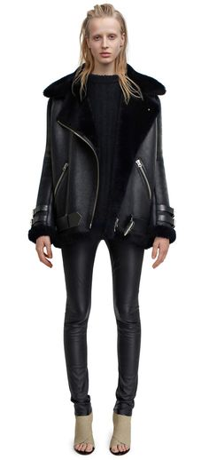 Acne Velocite Shearling Aviator jacket