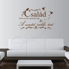 """Sticker Család """"Familia nu este un lucru important, este totul."""" Michael J. Fox Comanda stickerul decorativ Család si creaza o atmosfera unica, calda si plina de iubire. Michael J, Father, Tattoo, Stickers, Fall, Quotes, Decor, Hungary, Creative"""