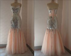 New Sequins Lace Mermaid Prom Dresses Long Party Evening Formal Gowns 2013 #Dress #Fashion #Deal