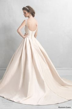madison james wedding dresses 2014 2015 champagne pink ball gown