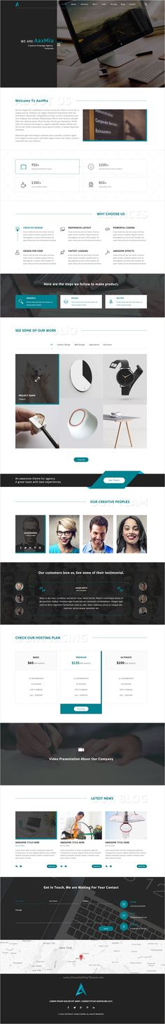 AaxMia is onepage #Photoshop #template suitable for any type of #webdev agency or #corporate type business website download now➩ https://themeforest.net/item/aaxmia-onepage-psd-template/18518557?ref=Datasata